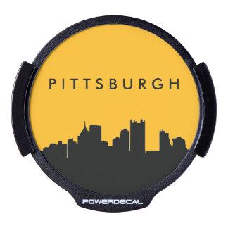 Negro y horizonte de la ciudad de Pittsburgh del Decal LED Para Ventana