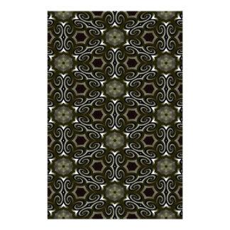Negro y ilusión óptica del oro papeleria personalizada