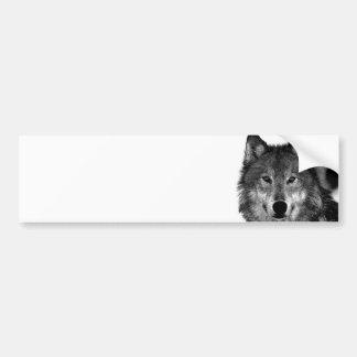 Negro y ilustraciones de White Wolf Pegatina Para Auto
