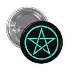 Negro y insignia del botón del Pentagram del pentá Pins