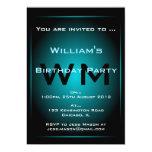 Negro y invitación azul claro de la ciencia invitación 12,7 x 17,8 cm