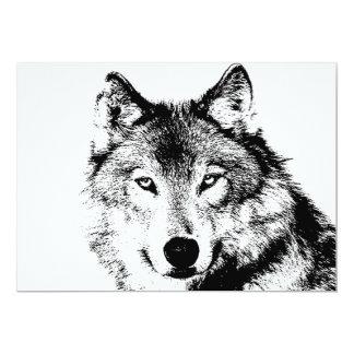 Negro y invitación de White Wolf