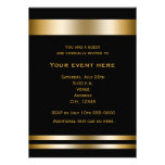 Negro y invitación elegante del acontecimiento del