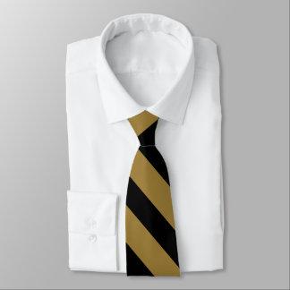 Negro y lazo Diagonal-Rayado del oro Corbata Personalizada