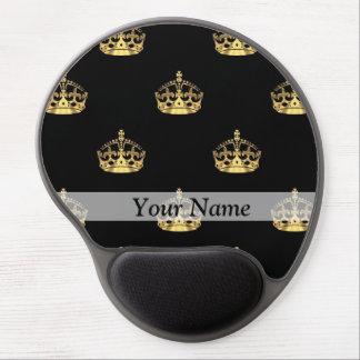Negro y modelo de la corona del oro alfombrilla con gel