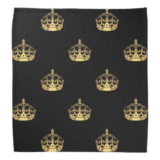 Negro y modelo de la corona del oro bandanas