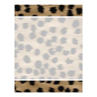 Negro y modelo de la impresión del guepardo de Bro Tarjeton