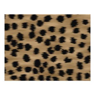 Negro y modelo de la impresión del guepardo de Bro Tarjeta Publicitaria