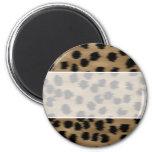 Negro y modelo de la impresión del guepardo de Bro Imán De Frigorifico