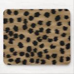 Negro y modelo de la impresión del guepardo de Bro Tapete De Ratón