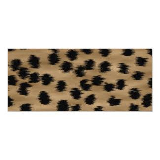 """Negro y modelo de la impresión del guepardo de invitación 4"""" x 9.25"""""""