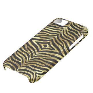 Negro y modelo de las rayas de la cebra de dios carcasa para iPhone 5C