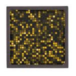 """Negro y modelo de los cuadrados de la """"lluvia de m caja de recuerdo de calidad"""
