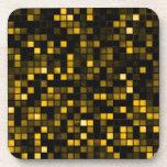 """Negro y modelo de los cuadrados de la """"lluvia de m posavasos de bebidas"""
