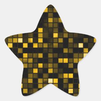 """Negro y modelo de los cuadrados de la """"lluvia de pegatina en forma de estrella"""