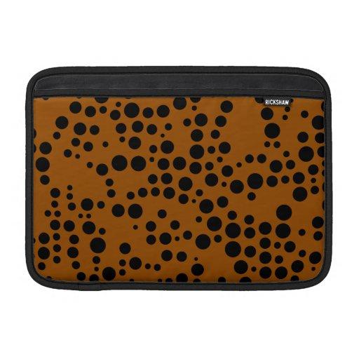 Negro y modelo de lunar de Brown Funda MacBook