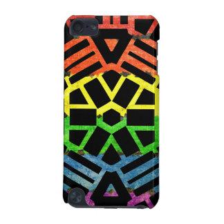 Negro y modelo del arco iris funda para iPod touch 5G