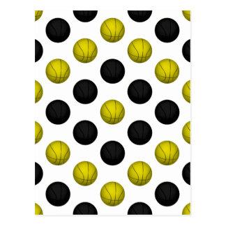Negro y modelo del baloncesto del oro tarjeta postal