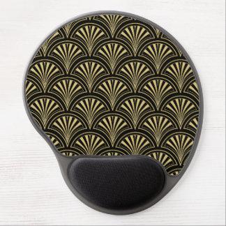 Negro y modelo elegante de la fan de Deco del oro Alfombrilla Con Gel