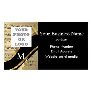Negro y modelo y logotipo cones monograma de la tarjetas de visita