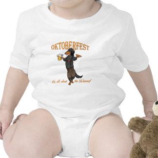 Negro y moreno de pelo largo trajes de bebé