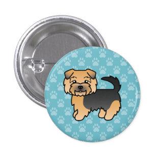 Negro y moreno Norfolk Terrier Chapa Redonda 2,5 Cm