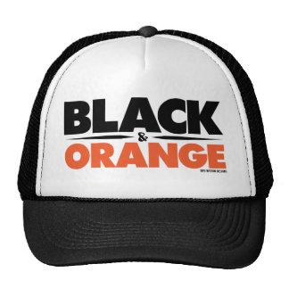 Negro y naranja gorra