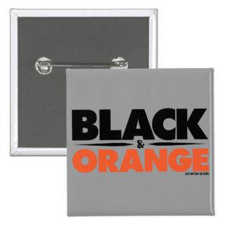 Negro y naranja pins