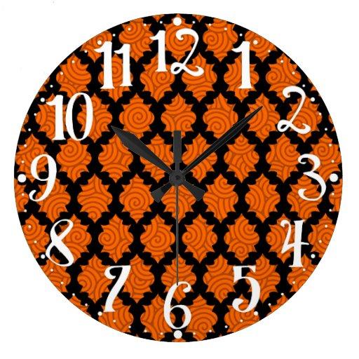 Negro y naranja - reloj de Quatrefoil del marroquí