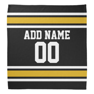 Negro y número conocido de encargo del jersey de l bandanas