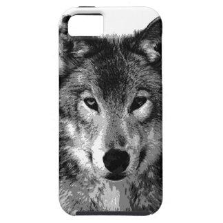 Negro y ojos de White Wolf iPhone 5 Protector