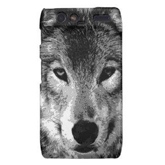 Negro y ojos de White Wolf Motorola Droid RAZR Carcasas