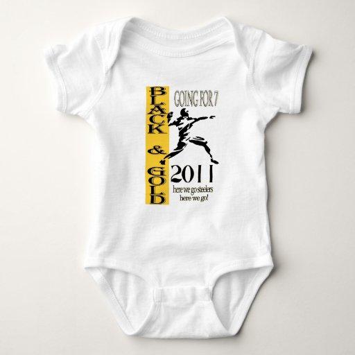 negro y onsie del oro body para bebé