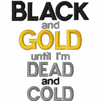 Negro y oro camiseta polo
