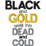 Negro y oro camiseta polo bordada