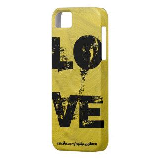 Negro y oro de Iphone del amor iPhone 5 Case-Mate Cárcasa