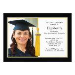 Negro y oro de la invitación de la graduación de l