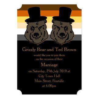 Negro y oro de la invitación del boda del orgullo invitación 12,7 x 17,8 cm