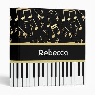 """Negro y oro de las notas musicales y de las llaves carpeta 1"""""""