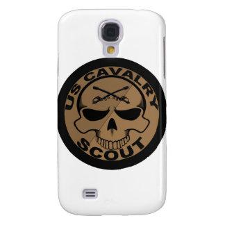 Negro y oro del cráneo del explorador de Cav Funda Para Galaxy S4