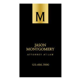 Negro y oro del diseño de la tarjeta de visita del