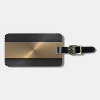 Negro y oro etiquetas para maletas