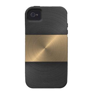 Negro y oro Case-Mate iPhone 4 funda