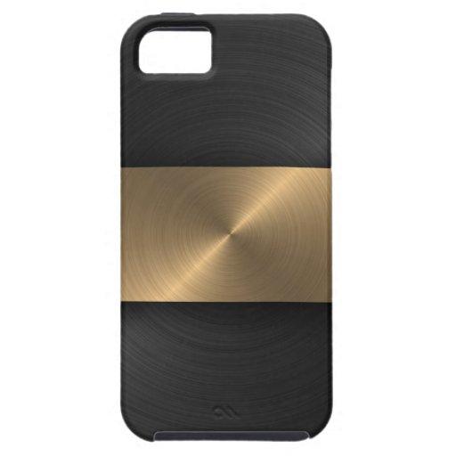 Negro y oro iPhone 5 Case-Mate cobertura