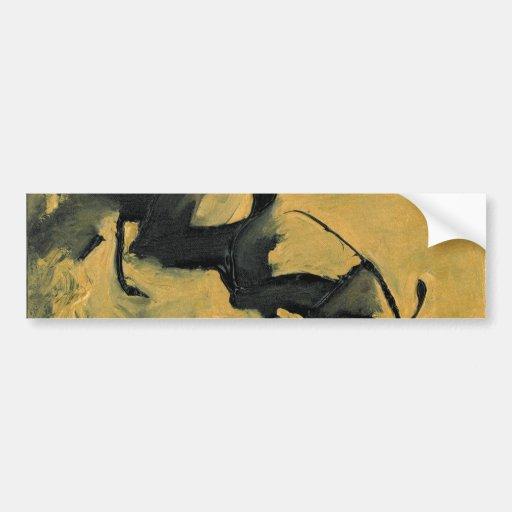 Negro y oro pegatina de parachoque