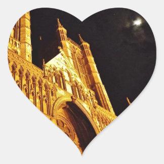 Negro y oro pegatina en forma de corazón