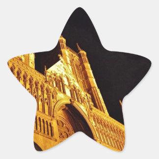 Negro y oro pegatina en forma de estrella