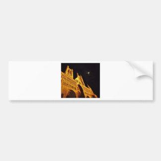 Negro y oro pegatina para auto