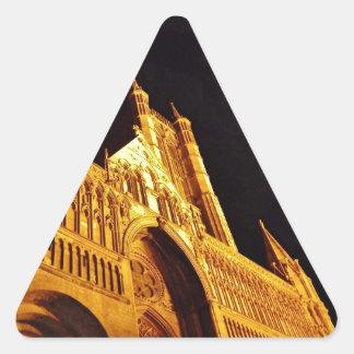 Negro y oro pegatina triangular
