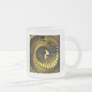 Negro y oro taza de café esmerilada